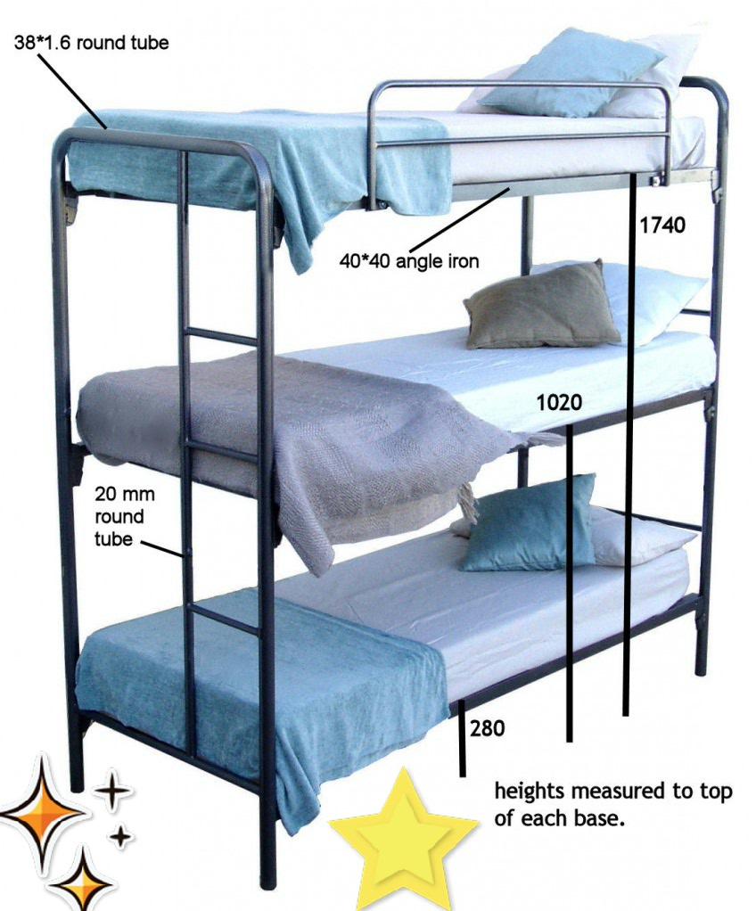 BCS Triple Bunk Bed Measurements