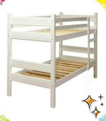 Standard Bunk Beds with only one Safety Rail in front
