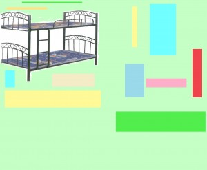 Designer Imported Black Steel Bunk Bed With Reinforce Bed Base