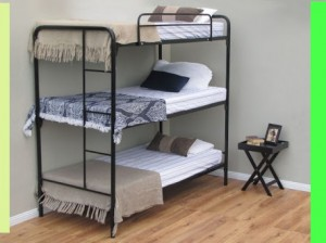 Designer Steel Space Saving Triple Steel Bunk Bed