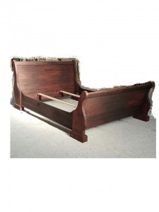 Mahogany Sleigh Bed with Matching Foot End