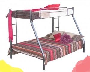 Elegant Silver Steel Tri Bunk Beds