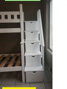 Wooden Steps with Drawers to Fit on Various Bunk Beds