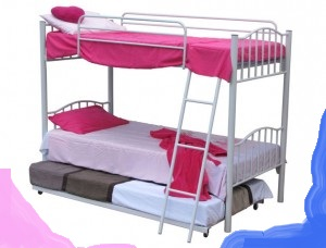 Steel Stylish Double Bunk Beds