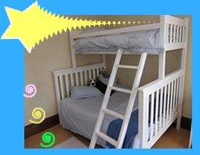 Wooden Slatted Tri Bunk Bed