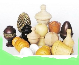 Wooden Finial End Cap Stoppers